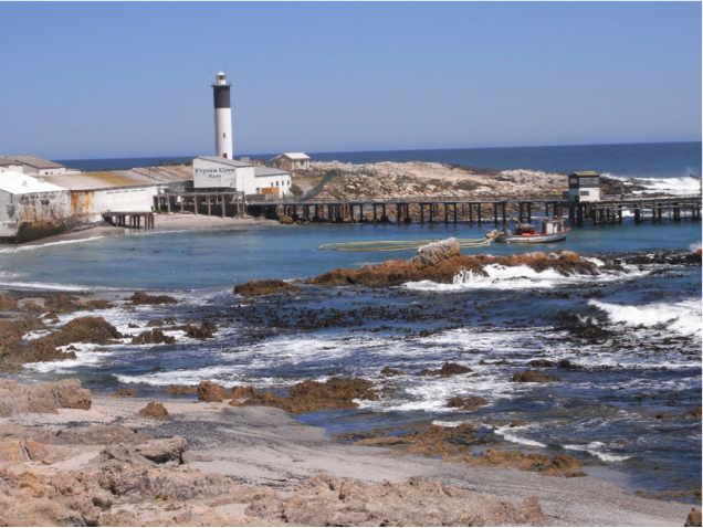 Doringbaai - a typical west coast scene. A dry, bleak landscape, but fish factories testifying to a rich harvest from the productive ocean.